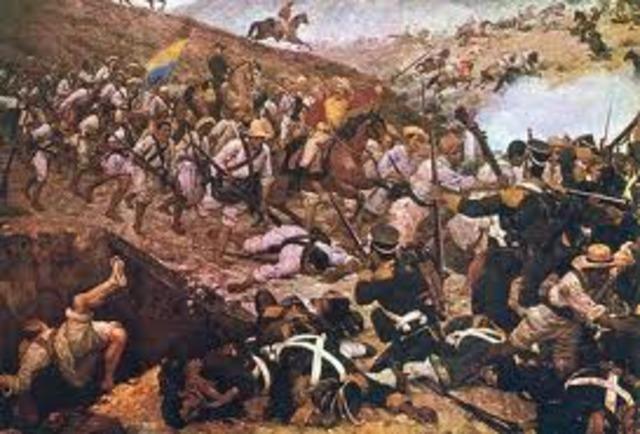 simon bolivar libera acolombia de españa en el puente de boyaca