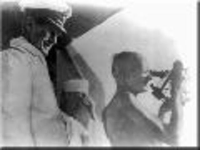 Left South Africa forever,  sailing from Cape town for London with Kasturba and Kallenbach, arriving just at beginning  of World War I.
