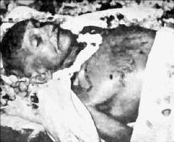 Assassinated in his 78th year at Birla House by Nathuram Vinayak Godse.