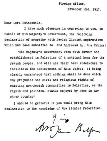 Balfour Declaration of 1917