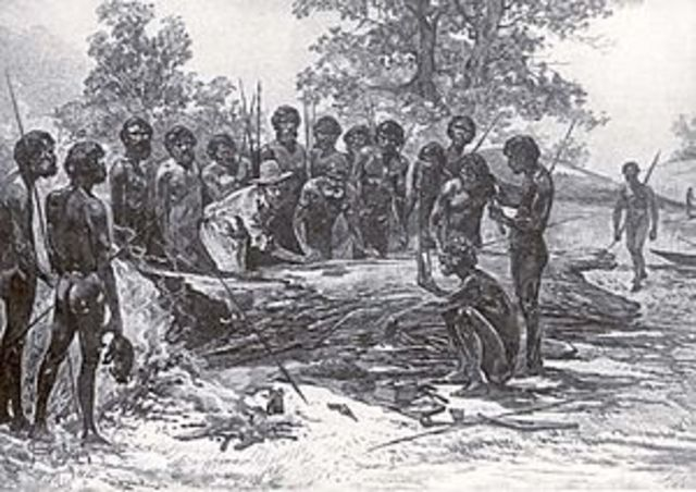 First contact with aboriginals