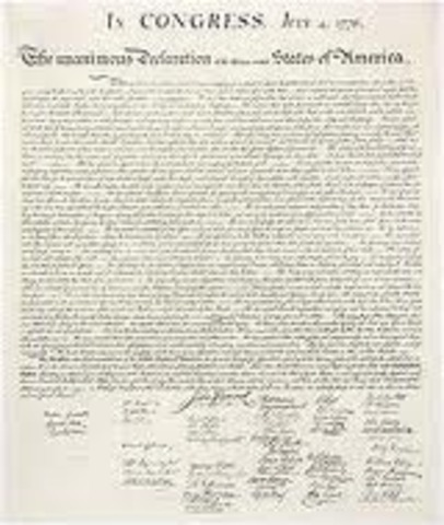 What was the declaration of Independece?