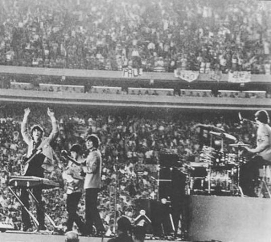 Beatles Play First Large Stadium Concert