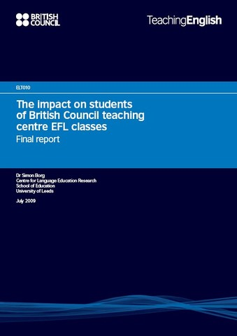 The Impact on Students of British Council Teaching Centre EFL Classes: Final Report