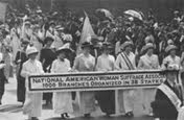 National American Womans Suffarage Assosiation is formed