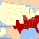 Southern united states civil war map