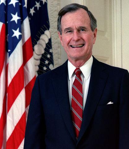 George H. W, Bush defeats Michael Dukakis