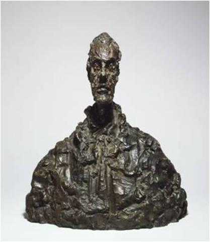 Alberto Giacometti. Bust of Diego, bronze, 1954