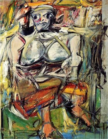 Willem de Kooning. Woman I, 1950-52