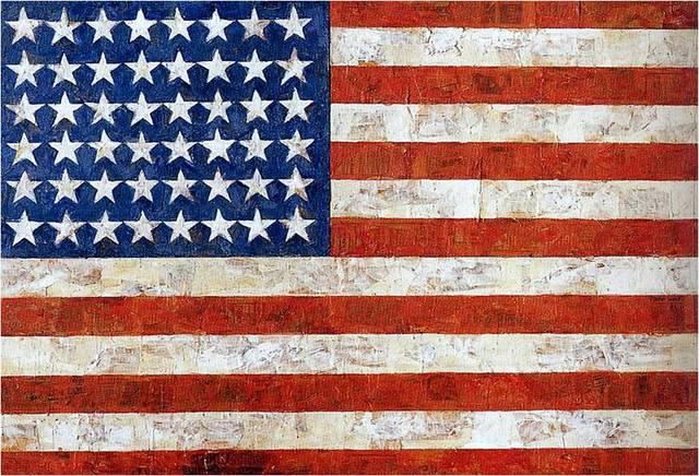 Jasper Johns. Flag, 1954-55
