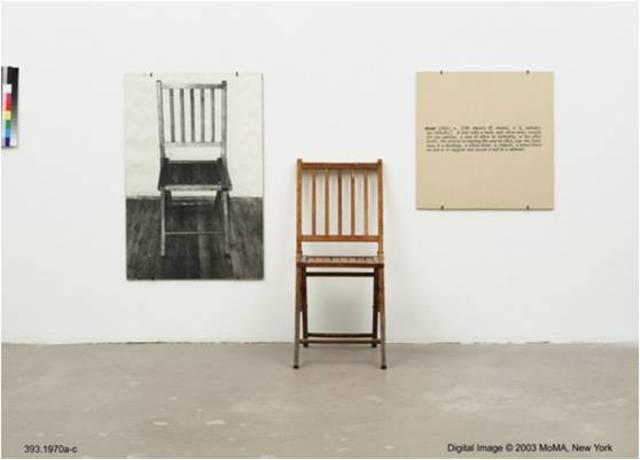 Joseph Kosuth. One and Three Chairs, 1965