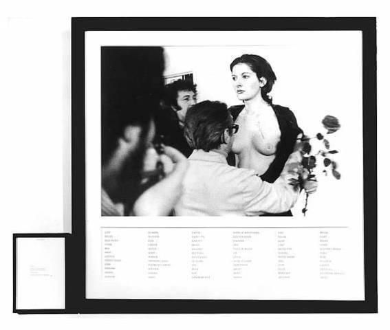 Marina Abramovic. Rhythm 0, 1974
