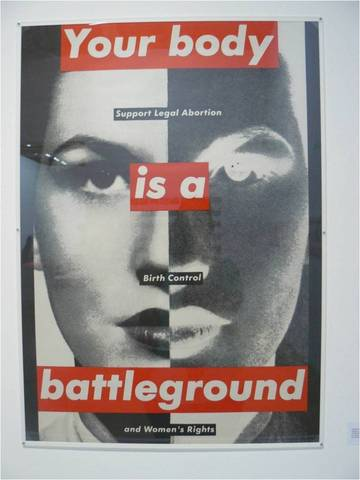 Barbara Kruger. Untitled (Your Body is a Battleground), 1989