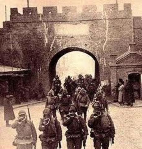 Japense army seized Manchuria China