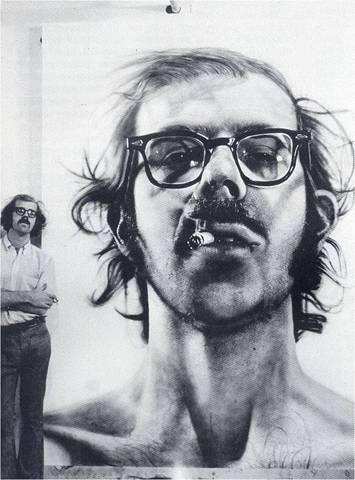 Chuck Close. Self-Portrait, 1968