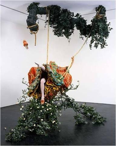 Yinka Shonibare, MBE. The Swing (after Fragonard), 2001