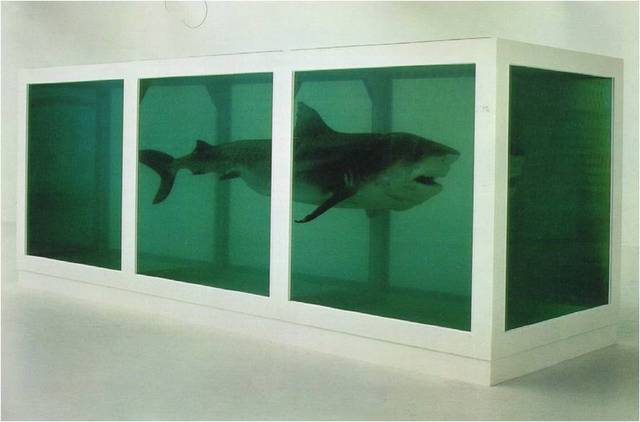 Damien Hirst. The Physical Impossibility of Death in the Mind of Someone Living,  1991