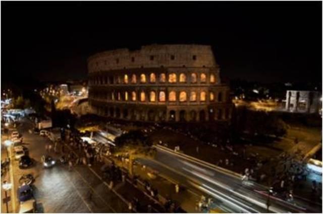 Thyra Hilden & Pio Diaz. Colosseum on Fire, City on Fire series, 2010