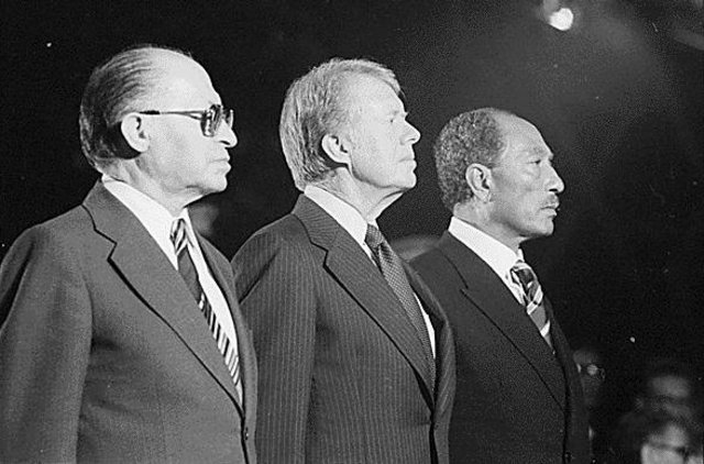 Carter helps with Camp David Accords