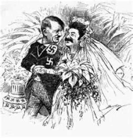 Nazi soviet pact signed by Hitler and Stalin