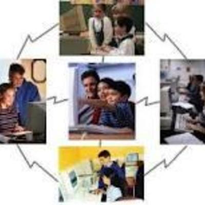 """EDUCACION A DISTANCIA""""MODELOS"""" timeline"""