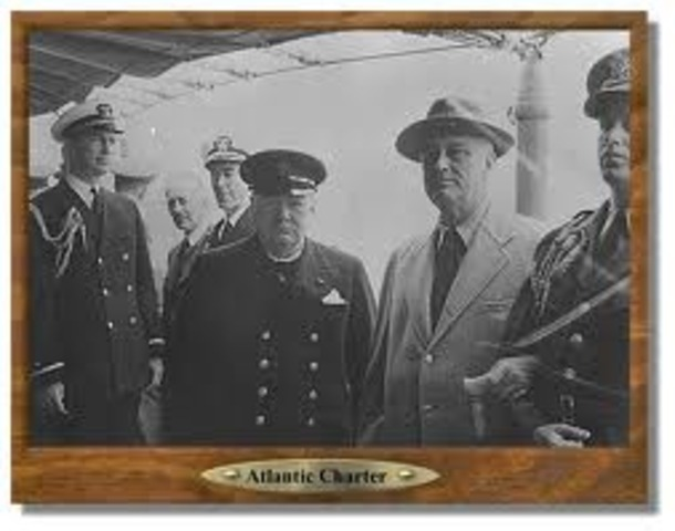 Churchill and FDR issue the Alantic Charter