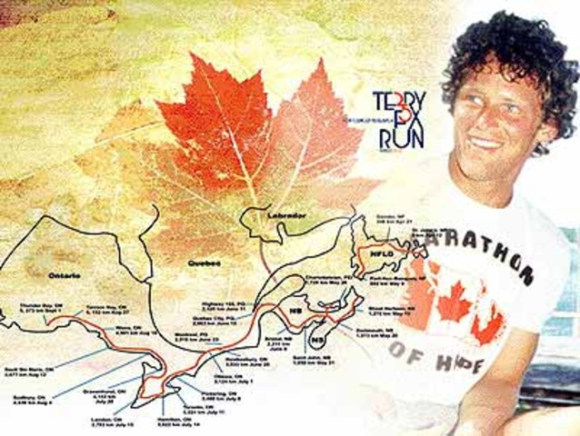 Due to a return of his cancer Terry Fox curtails his run
