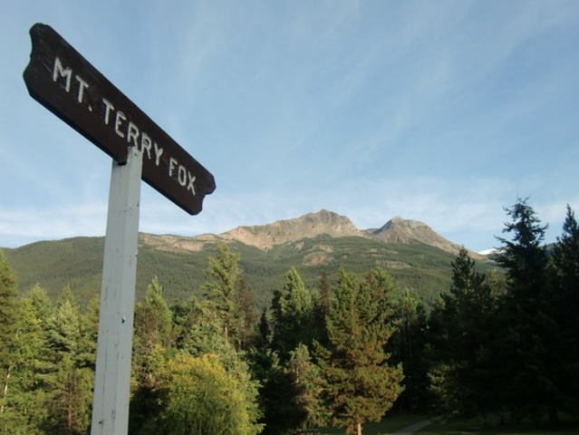 Named a peak after Terry Fox