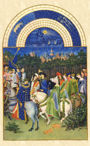 """May""  from Les Tres Riches Heures du Duc de Berry"
