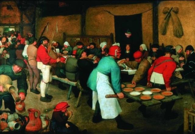 The Peasant Wedding, Bruegel / Renaissance ( 1568)