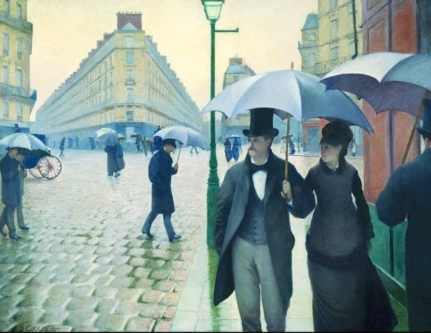 Gustave Caillebotte: Paris Street: Rainy Day