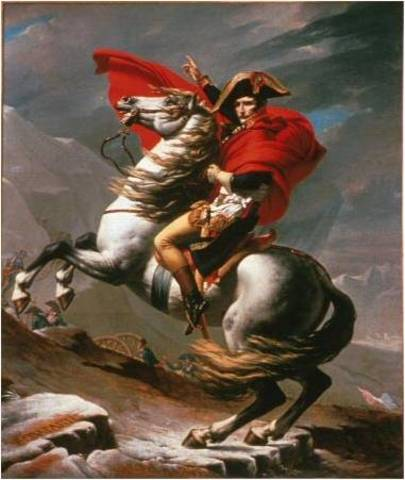 Napoleon Crossing the Alps at St. Bernard by David