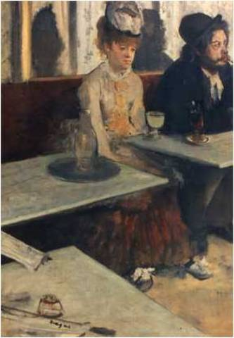 The Absinthe Drinker by Degas