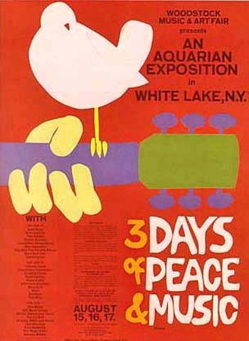 Woodstock Music & Art  Fesitval  (Aug 15 - Aug 18, 1969)