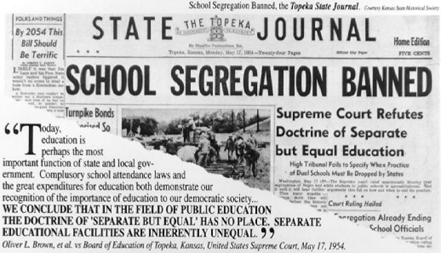 Brown v. Board of Education Supreme Court case.