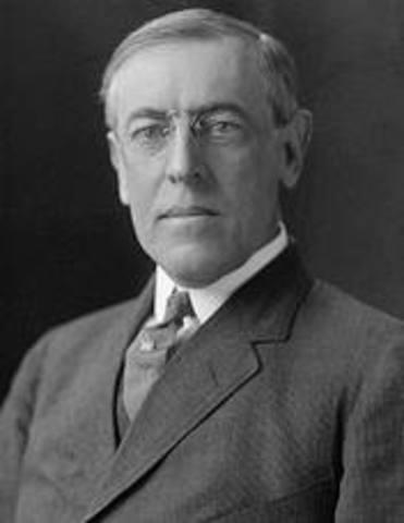 President Woodrow Wilson suffered a massive stroke