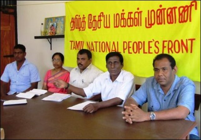 Tamil National Peoples Front launched in Jaffna
