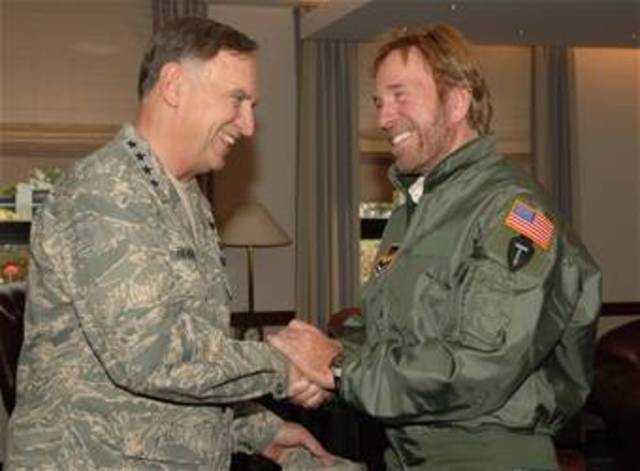 Chuck Norris join the air force