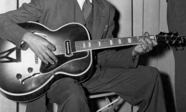 The first electric guitar