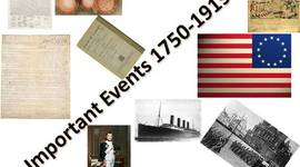 Important Events 1750-1919 timeline