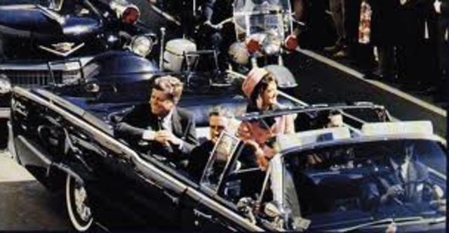 John Fitzgerald Kennedy is fatally shot in the head