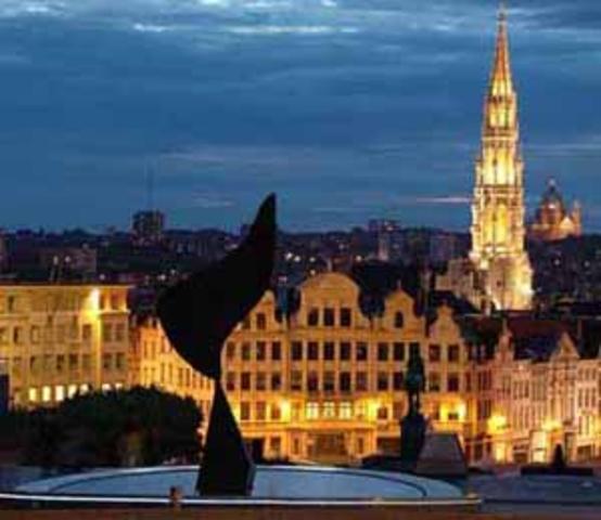 Arrive in Belgium