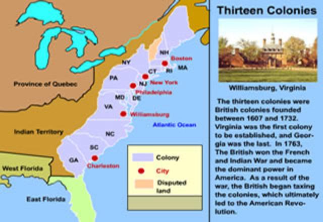 C-13 Original Colonies 1607-1732