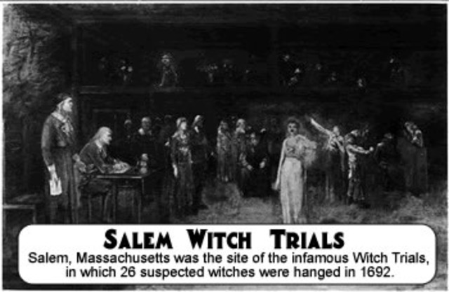 The salem witch trials as a result of conflicts