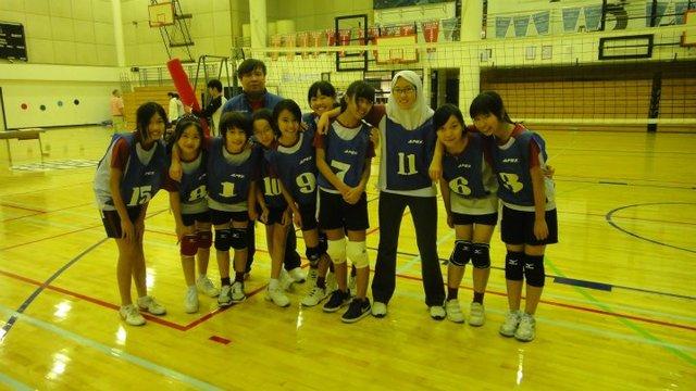 First Volley ball match