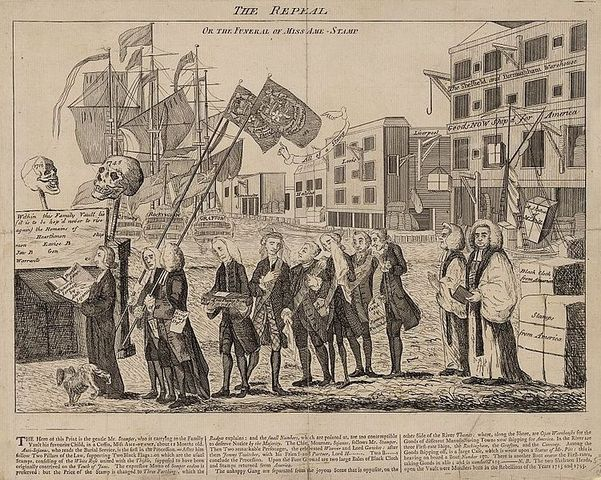 Repeal of the Stamp Act.