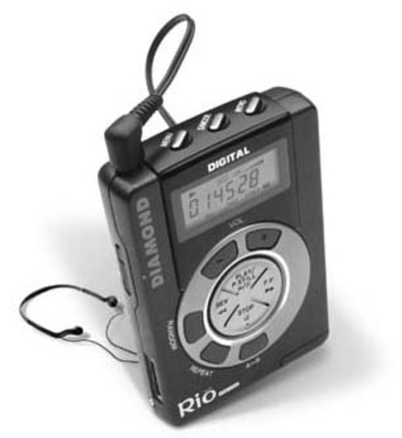 Portable MP3 players first appeared