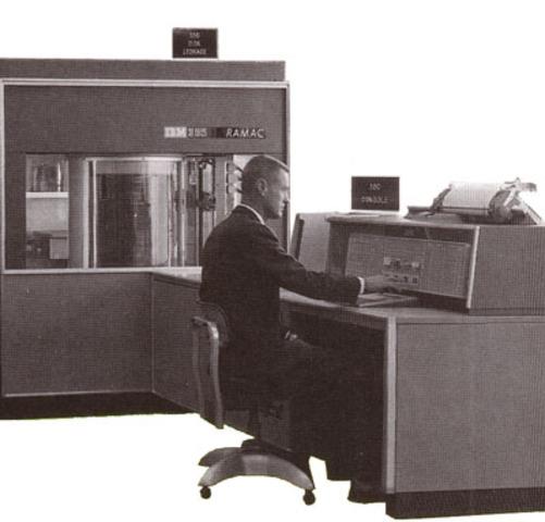 IBM lanzá el primer dico duro