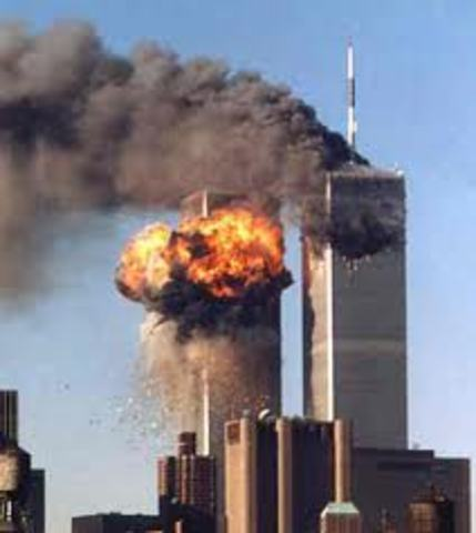 September 11 attacks  Center Twin Towers in New York Center