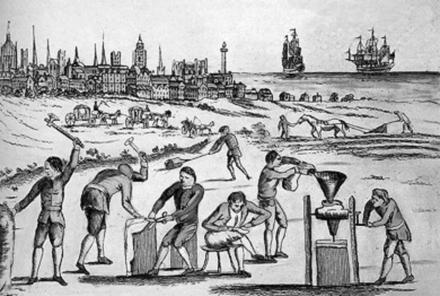 Illustration Drawing Mercantilism